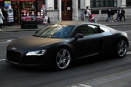 Audi r8 matte black behind the wheel pinterest