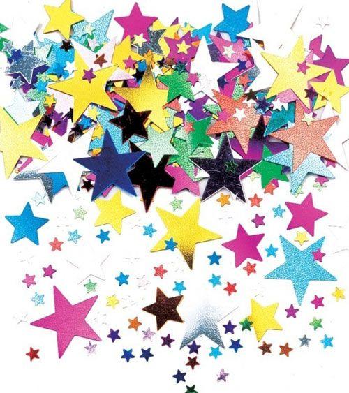 "Metallic-Konfetti ""Bunte Sterne"" - 14 g | Konfetti | Dekoration | Pink Dots - Partystore"