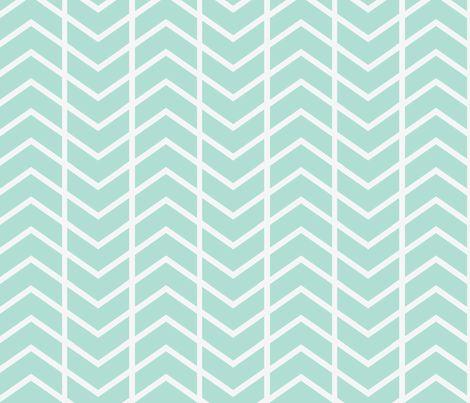 chevron stripe mint fabric by ninaribena on Spoonflower - custom fabric --- Accent Pillows