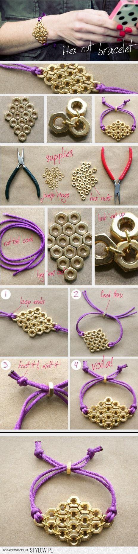 25+ unique diy hex nut earrings ideas on pinterest | diy bracelets