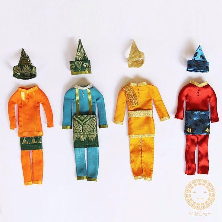 Riau Melayu traditional costumes_pakaian adat melayu pria_20cm