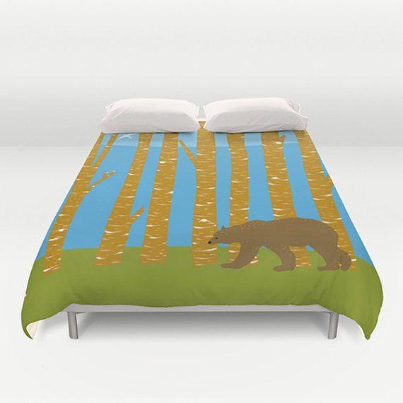 Duvet Cover, Forest duvet cover, Modern duvet cover, original bedding, twin size, king size duvet cover, queen duvet cover