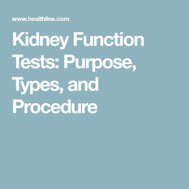 Kidney Function Tests: Purpose, Types, and Procedure