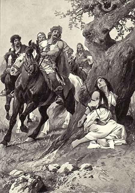 Věnceslav Černý - Czech illustrator and painter (Ancient Bohemian Legends - Staré pověsti české)