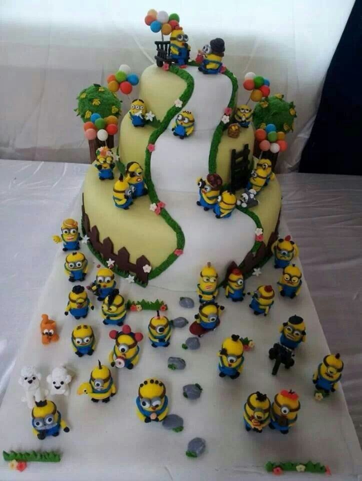 Minion Cake Decorations Uk : Cool Minions Cake!! :) Birthday Ideas:] Pinterest ...