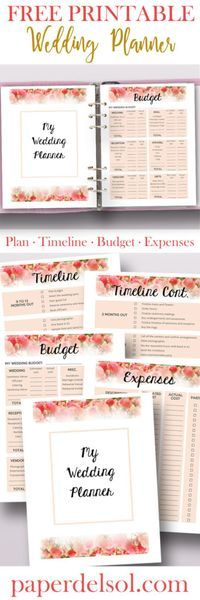 The 25+ best Free printable wedding planner ideas on Pinterest - budget timeline template