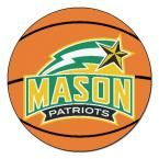 Ncaa George Mason University Orange 2 ft. 3 in. x 2 ft. 3 in. Round Accent Rug