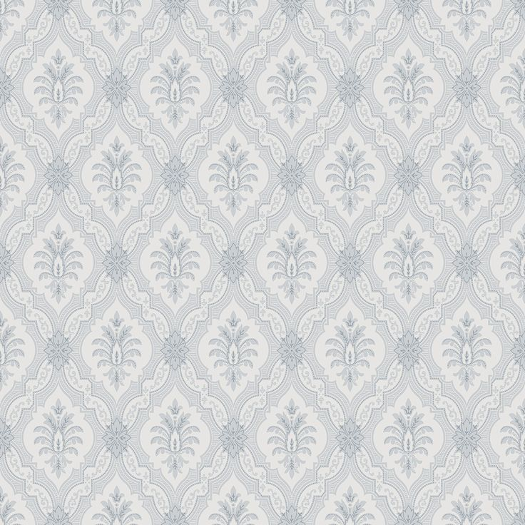 Lily Blue and White wallpaper by Boråstapeter at Wallpaperdirect.com