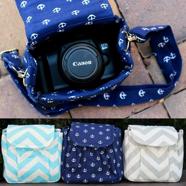 """Whether you are a beginner or pro, every photographer should have an adorable camera bag! It is just the right size for a small camera up to DSLR size and a small or stock lens. The exterior pocket gives you additional storage for your cell phone, keys, and extra battery.  This bag is not limited just to photographers! It can also be used as an everyday purse.  This bag measures approximately 6"""" by 6"""" and 3 1/2 inches deep. The strap is adjustable so it can be worn as a traditional shou..."""