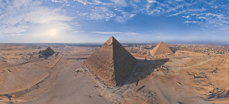 Photograph Great Pyramids of Giza in Egypt by AirPano on 500px