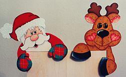 Santa and his Deer Door Huggers Download