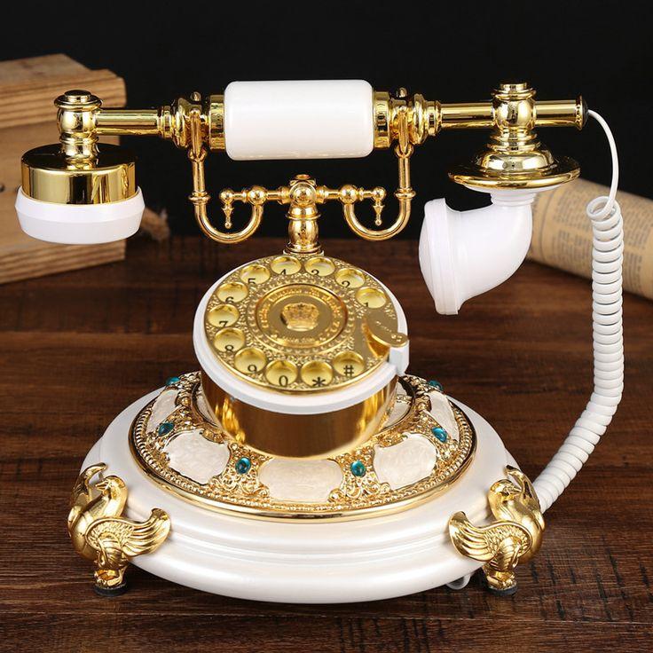 Vosotros sois la antigüedad Jardín Europeo de llamadas de oficina hogar retro del teléfono de teléfono fijo superior ID