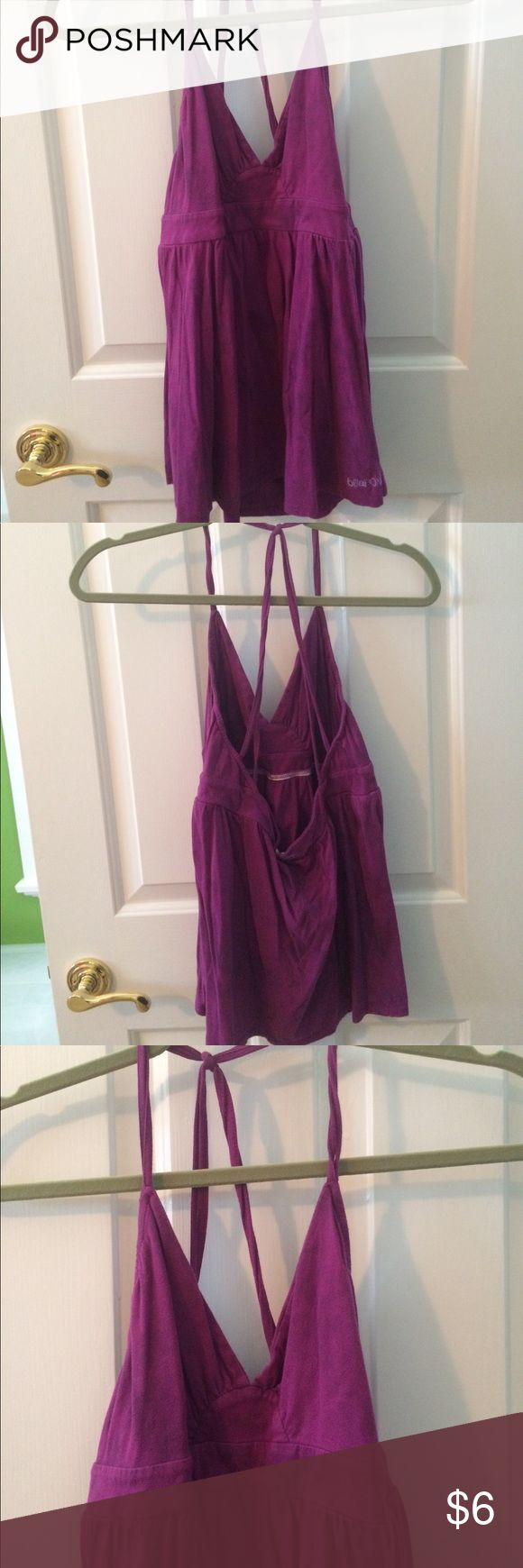 Purple Strappy top with Low Back Purple strappy top with low back. Billabong Tops Tank Tops
