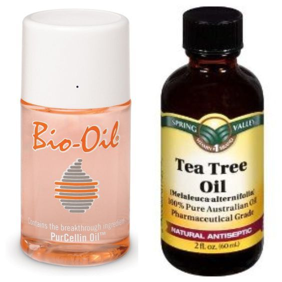 "Attention girls with uneven skin tone, acne, oily skin, dry skin, acne scars, chapped lips, under eye bags, fever blisters, or any skin imperfections: Here is what i consider my cure-all ""night cream""...One squirt of bio oil mixed with 2 drops of tea tree oil applied to face, lips, & neck before bed... (Do not get in your mouth or eyes!) Try it & you'll fall in love! Both products can be found at CVS, Rite Aid, Walmart, Walgreens etc.:"