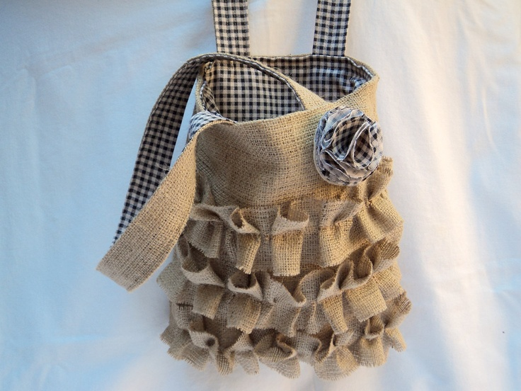 Burlap Purse French Country Style. $48.00, via Etsy.