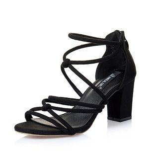 De mujer Sandalias Tacones Tacón ancho Cuero Zapatos
