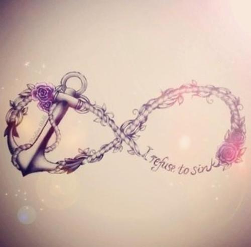 Sister Anchor Tattoos Infinity symbol, anchor tattoo