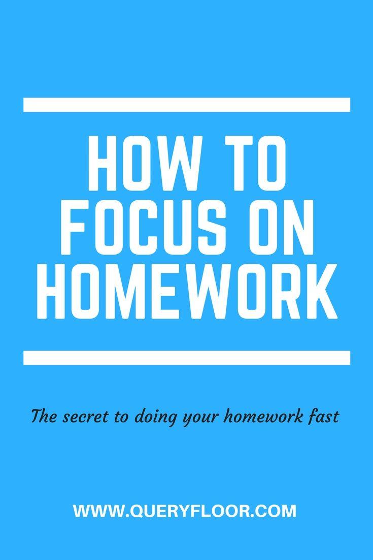 How To Finish Homework Faster Homework Homework Routine Do Homework