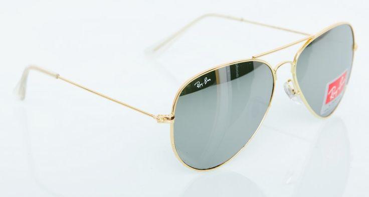 Солнечные очки Ray-Ban Aviator RB 3025 золотистая оправа, зеркальные поляризованные стекла #19031 !! Последняя распродажа модели !! Продаётся с большой скидкой !! !! Отличное качество и низкая цена !!