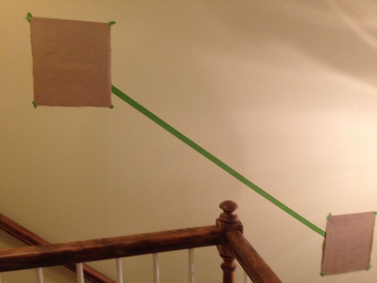 How to line up a stairwell gallery wall