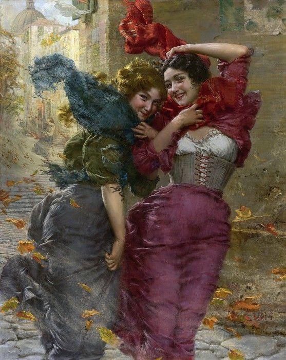 Гаэтано Беллеи 19-20 век. Итальянец. : Ветреный день