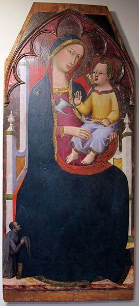 Andrea Vanni - Madonna in trono col bambino e un donatore - 1390 ca. - Museo diocesano, Siena