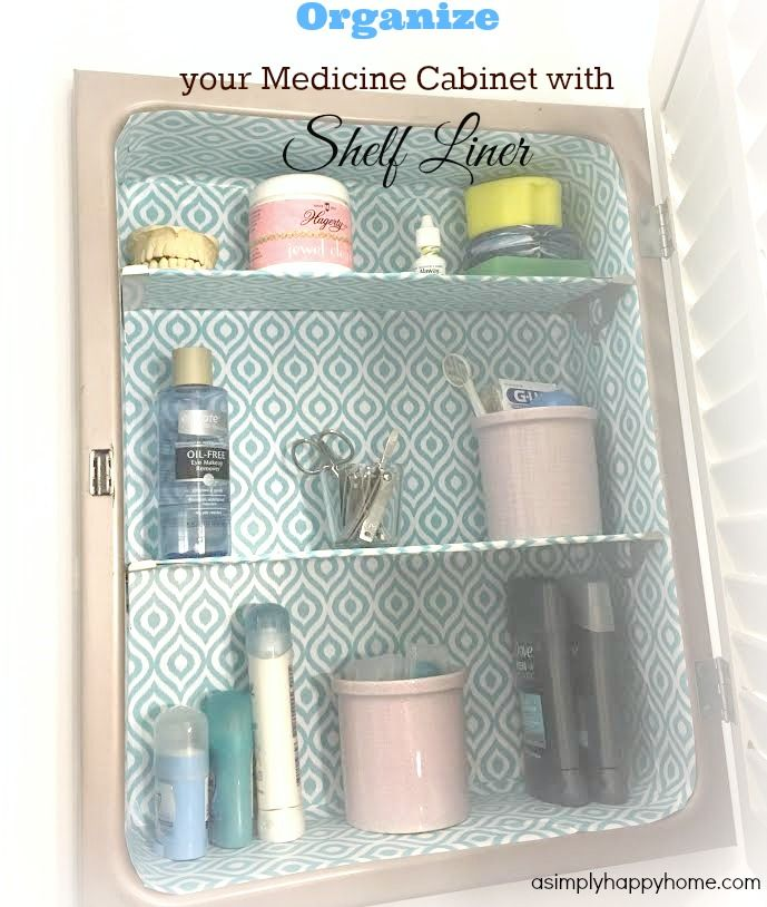 Organize your Medicine Cabinet with Shelf Liner