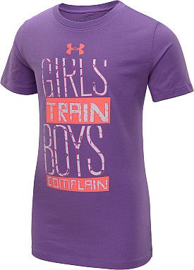 UNDER ARMOUR Girls' Girls Train UV Short-Sleeve T-Shirt