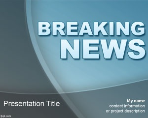 Free Breaking News PowerPoint Template for news agencies or social media companies