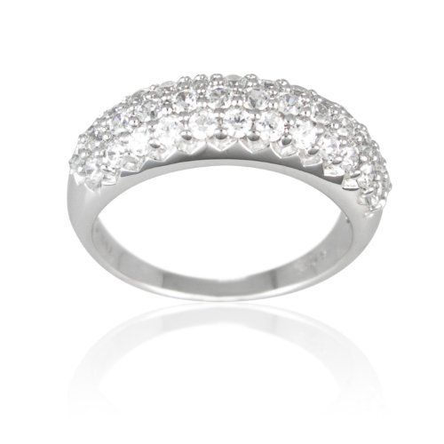 Sterling Silver Cubic Zirconia Ladies Band Ring Amazon Curated Collection. $50.00. This delicate sterling silver ring is engulfed by lustrous cubic zirconia. It brings a brisk look.. Made in Thailand