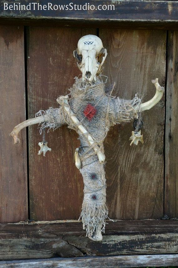 Bad Juju is one of our more involved dolls comprised of many animal bones. It is also one of our largest dolls at 15 tall. Made with burlap,
