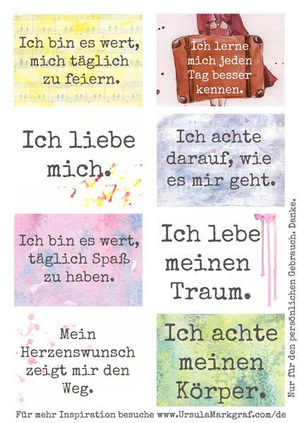 Affirmationen zum Thema Selbstachtsamkeit – kostenlos zum Herunterladen – von Ursula Markgraf – Barbara