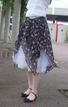 イレギュラースカートの作り方。 How to make irregular skirts.