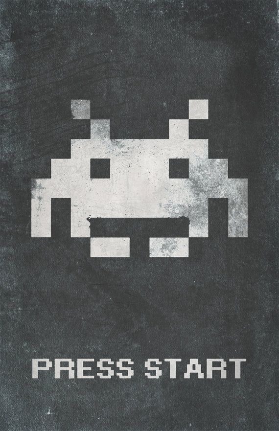 Space Invaders Inspired Vintage Poster Press by ThePixelEmpire