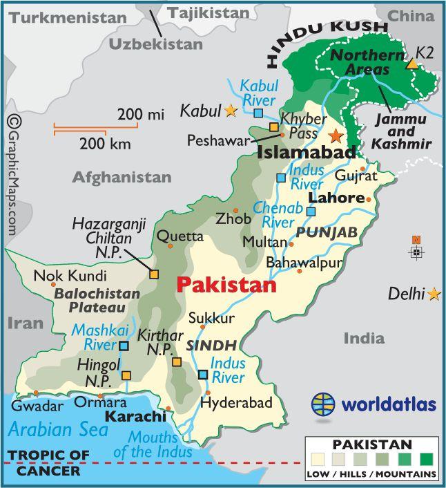 Pakistan Large Color Map
