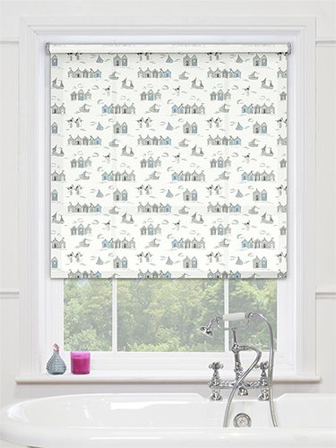Boathouse Blue Roller Blind from Blinds 2go