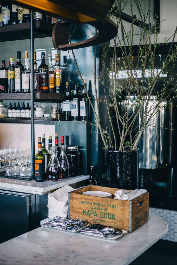 The bar at Basalt in Napa is perfect for cocktails in Napa Valley, more on The Taste SF