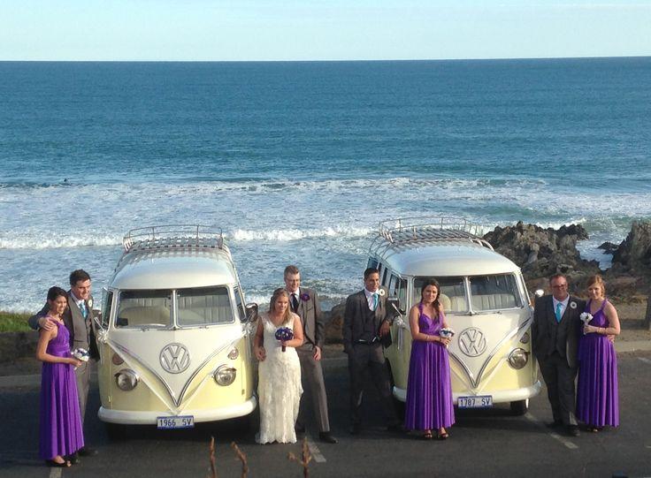 Kombis at beach wedding