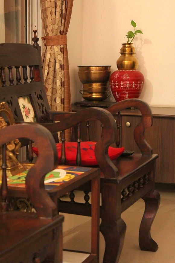 Living room makeover a kerala style interior in the for Dining room ideas kerala