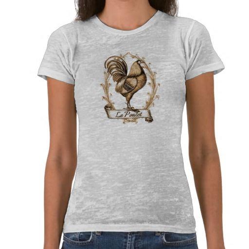 Le Poulet_brown tint T-shirts #vintage #retro