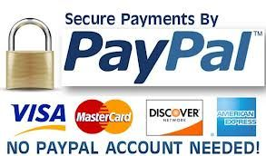Use your paypal account when you shop on Wellbeing World Online.