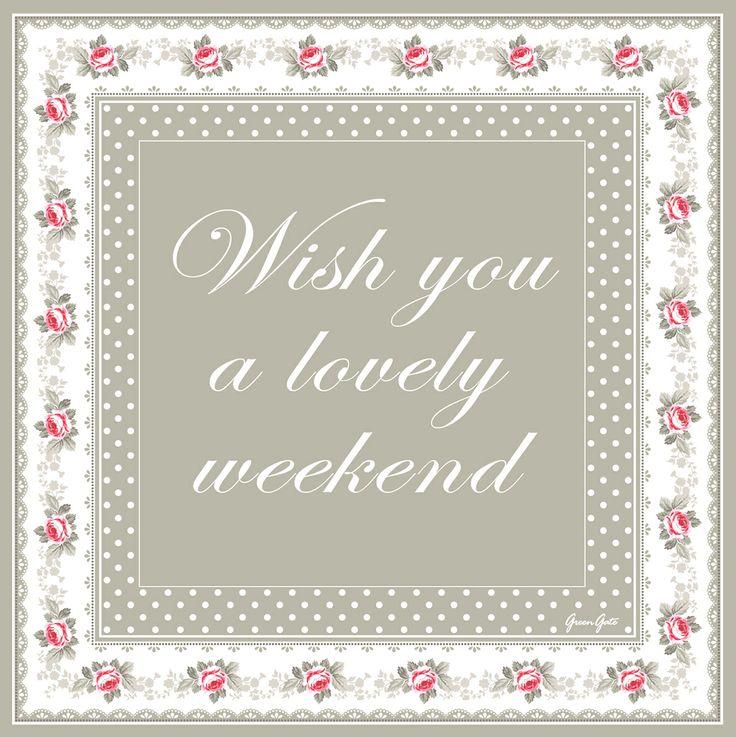 Greengate Weekend Greeting