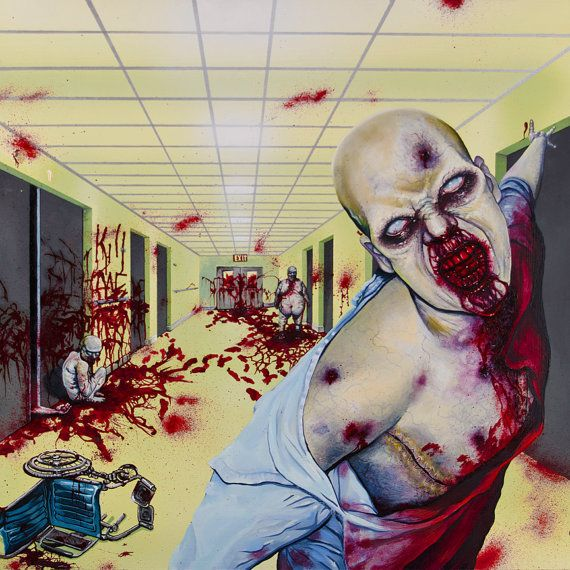 1000 images about horror bathroom on pinterest for Zombie bathroom decor