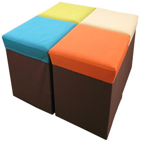 Folding Box Storage Stool Cube KidsToy Store MDF Polyester BLC-378OR Azumaya JP #AzumayaJapan  sc 1 st  Pinterest & 56 best Stools u0026 Chairs images on Pinterest | Stools Kids rooms ... islam-shia.org