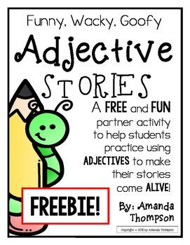 LA 21 LA 22 LA 30 Adjectives: Partner Activity- Fill in Stories- *FREEBIE*