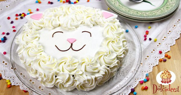 Torta di Pasqua a forma di pecorella