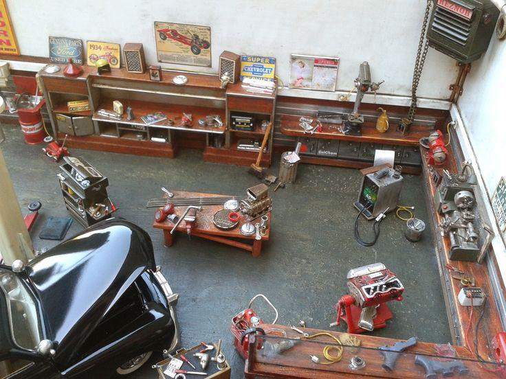 Garage diorama enti rement d taill et enti rement scratch - Garajes para coches ...