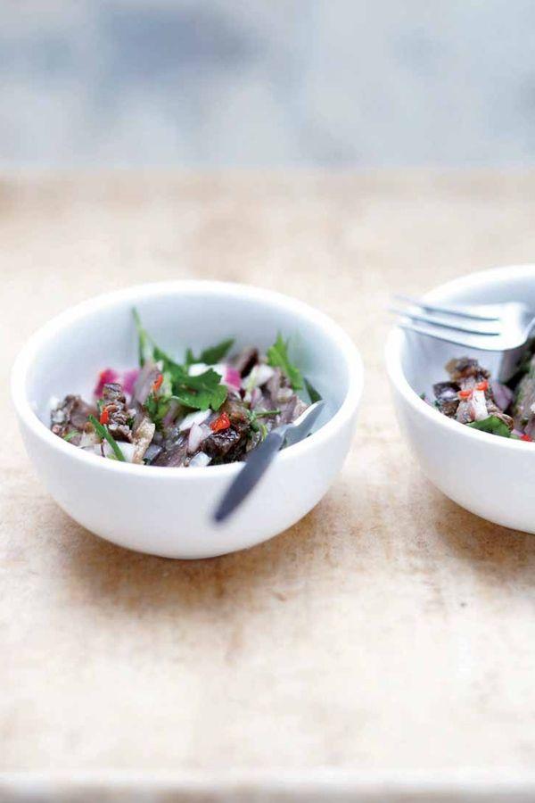 Recept Thaise salade met stoofvlees