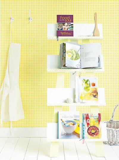 Plaats je mooiste kookboeken in dit tijdschriftenrek!