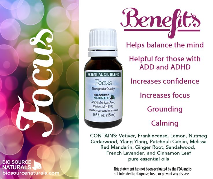 Focus Essential Oil Blend Contains Oils For To Aid And Help Soothe Symptoms Of